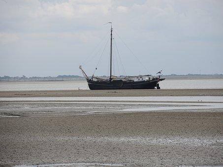 Baltrum, Watts, Island, North Sea, Ebb, Sand Watt