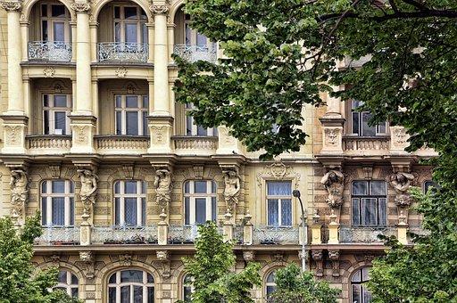 Bowever, Window, Prague, Gable, Facade, Building