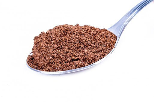 Spoon, Powder, Instant, Close-up, Dust, Brown, Cacao
