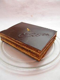 Opera, Chocolate, Cake, Cacao, Gato, Food, Dessert