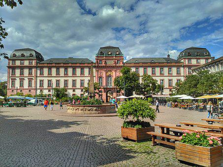 Darmstadt, Hesse, Germany, Castle, Marketplace