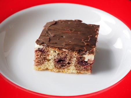 Donauwelle, Cake, Dessert, Delicious, Eat, Cherries