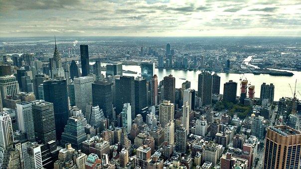 View, Manhattan, Chrysler Building, City, Skyline