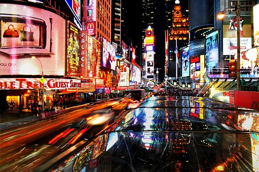 New, York, City, City View, Street, Times Square