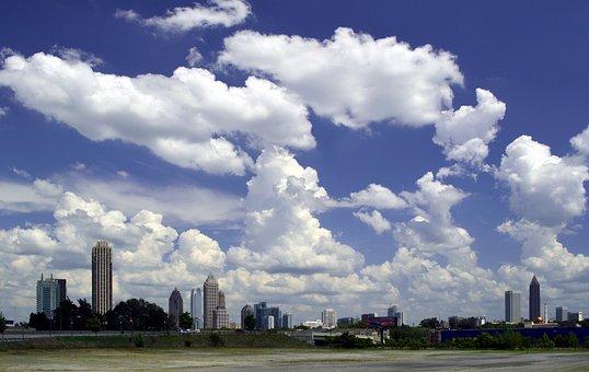 Atlanta, Georgia, Midtown, City, Skyline, Ga, Urban