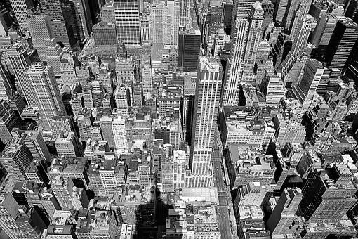 Empire, New York, City, Manhattan, Skyline, York, New