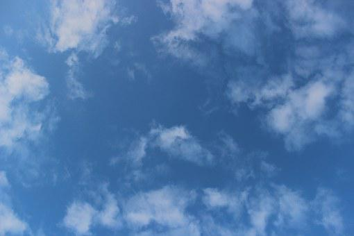 Sky, Clouds, Blue, Morning, Nature, Cloud, White, View