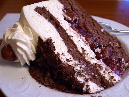 Black Forest Cake, Pastry Shop, Food, Cream