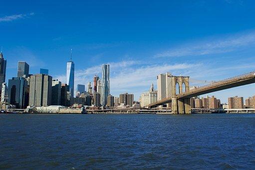 Manhattan, Downtown, Brooklyn, Urban, City, America