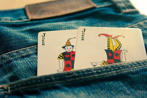Joker, Cards, Jeans, Blue, Pocket, Fashion, Clothing