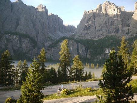 Fog, Morning, Dolomites, Sella Group, Mood, Alpine