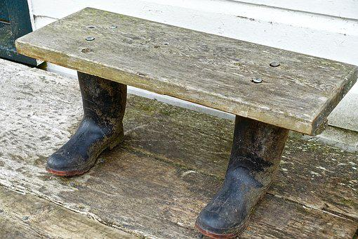 Seat, Funny, Gumboot, Silly, Joke