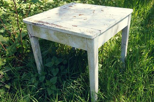Table, Furniture Pieces, Old, Forget, Leave, Haunting