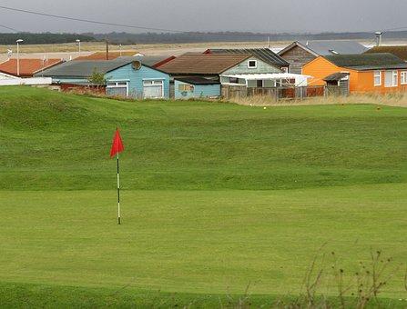 Golf Course, Golf Flag, Golf, Course, Green, Flag