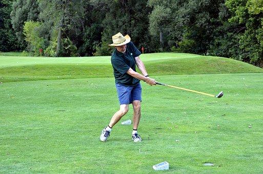 Golfer, Golfing, Golf Swing, Man, Golf Ball, Tee