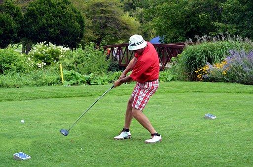 Golfer, Golfing, Golf Swing, Man, Left Handed, Lefty