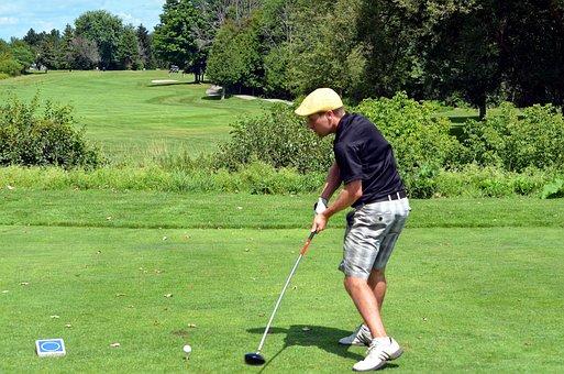 Golfer, Golfing, Golf Swing, Lefty, Left Handed, Man