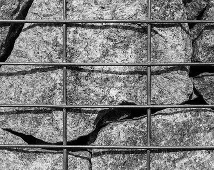 Iron, Grid, Stones, Atmosphere, Architecture, Building