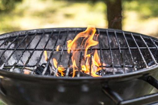 Grill, Season On The Grill, Fire, Empty Grill, Grilling