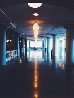 Hallway, Light, Dark, Hall, Corridor, Interior, Dim