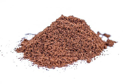 Ground, Powder, White, Cacao, Close-up, Isolated, Heap