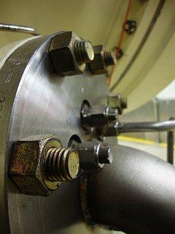 Industrial, Flange, Bolt, Steel, Metal, Equipment