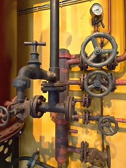 Machine, Piping, Valves, Measure, Pressure Gauge