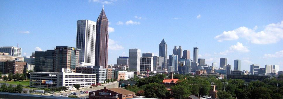 Atlanta, Downtown, Midtown, Skyline, Cityscape, Georgia