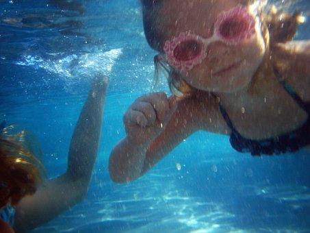 Swim, Play, Pink, Swimming, Diving, Water, Pool