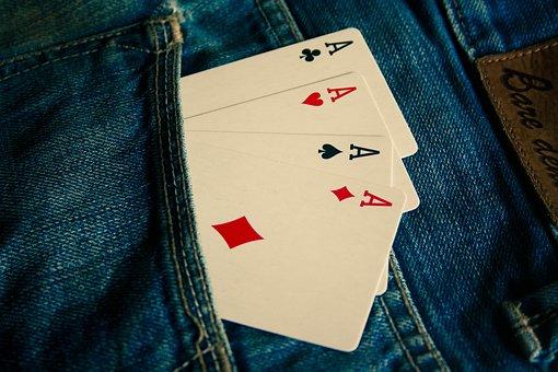 Ace, Cards, Jeans, Blue, Pocket, Fashion, Clothing