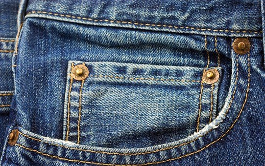 Jeans, Blue, Pocket, Fashion, Clothing, Casual, Cotton