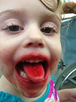 Popsicle, Summer, Red, Girl, Silly, Outdoors, Fun