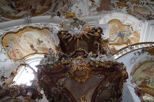 Church, Zwiefalten, Religion, Building, Baroque, Faith