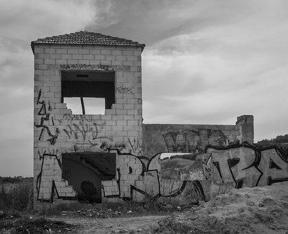 Ruins, Abandoned, Abandonment, Old, Stone House, Facade
