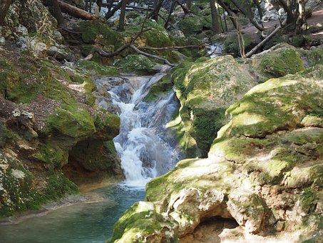 Salt Des Freu, Waterfall, Bach, Mallorca