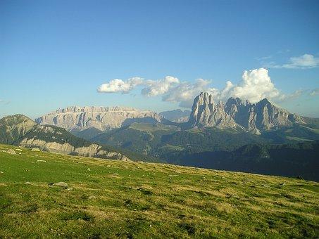 Dolomites, Sassolungo, Plattkofel, Sella, Sella Group