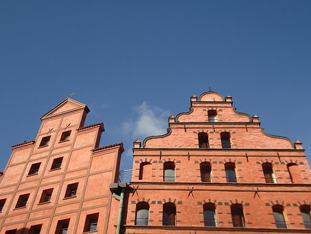 Home, Gable, City, Sky, Old Town, Roofs