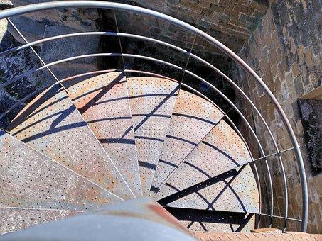 Ladder, Snail, Metal, Step, Steps, Oxide, Metals