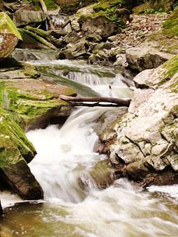 River, Webster's Falls, Hamilton, Water, Creek, Summer