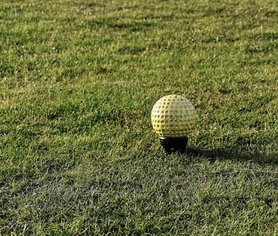 Golf, Tee Marker, Yellow, Tee, Course, Green, Game