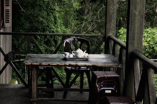 Teapot, Terrace, Furniture, Unique, Interior, Room