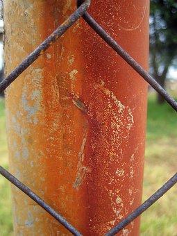 Rusted Pole, Pole, Upright, Iron, Oxidized, Rusted