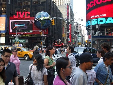 Times, Square, New, York, Manhattan, Midtown, Street