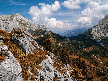 Mountain, Alps, Landscape, Rocky, Alpine, Clouds, Sky
