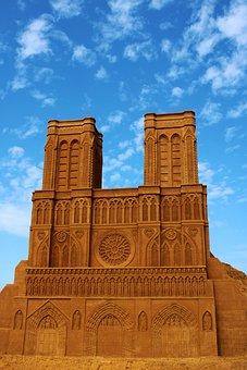 Sand Sculpture, Sand, Church, Art, Statue, Artwork