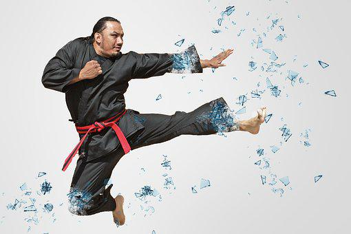 Jump, Kick, Man, Male, Sport, Athlete, Action, Adult