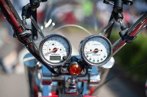 Speedometer, Motorcycle, Chopper, Motorbike, Bike, Ride