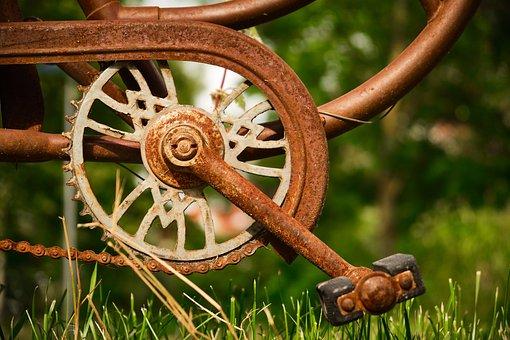 Bicycle Crank, Old, Bike, Bottom Bracket, Crank, Rust