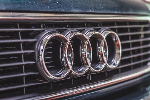 Audi, Rings, Logo, Brand, Chrome, Oldtimer, Vintage