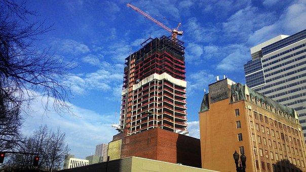 Construction, Crane, Industry, Cranes, Sky, Urban, Work